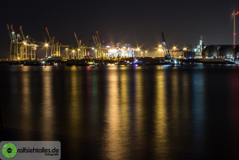 Skyline des Hafens von Hamburg