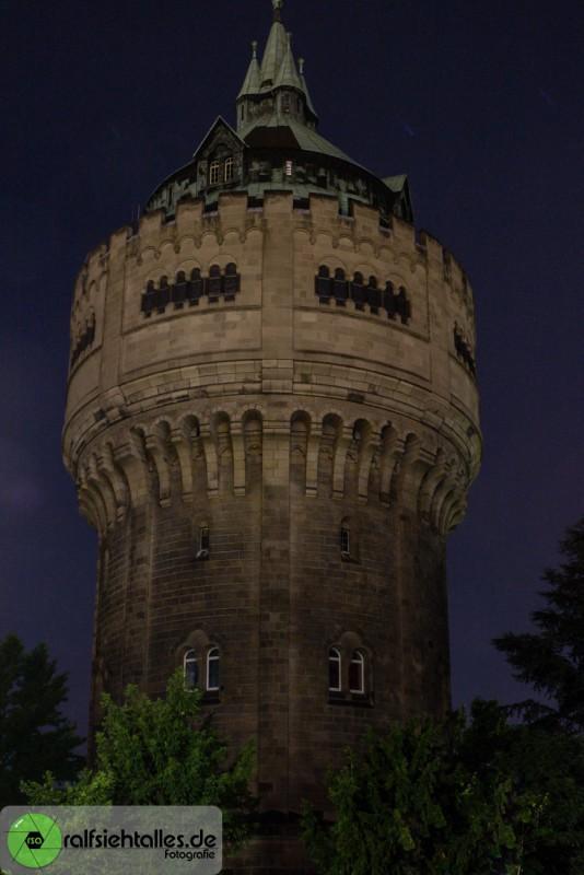 Der Wasserturm in Münster bei Nacht
