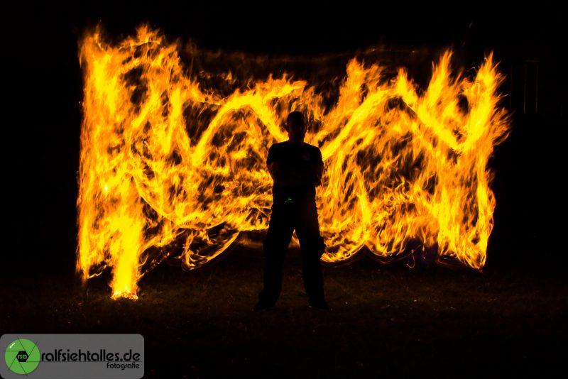 Lightpainting - Die Feuerwand