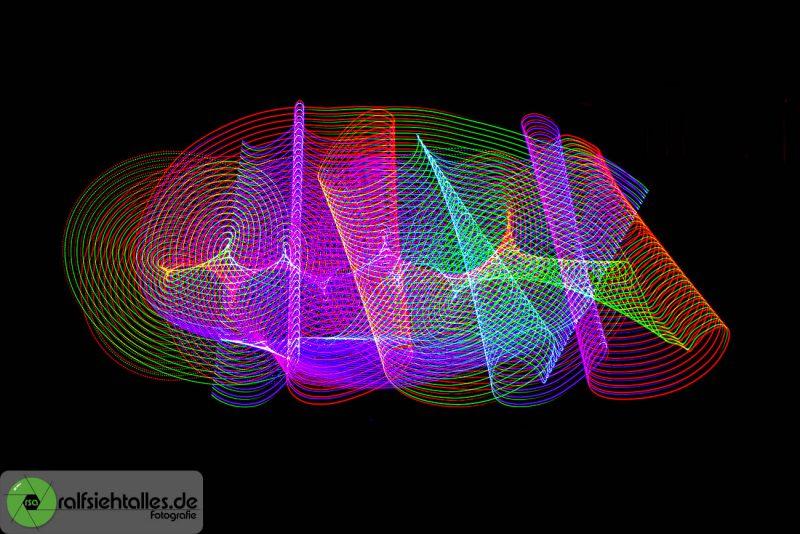 Kunstvolle Objekte mit Lightpainting