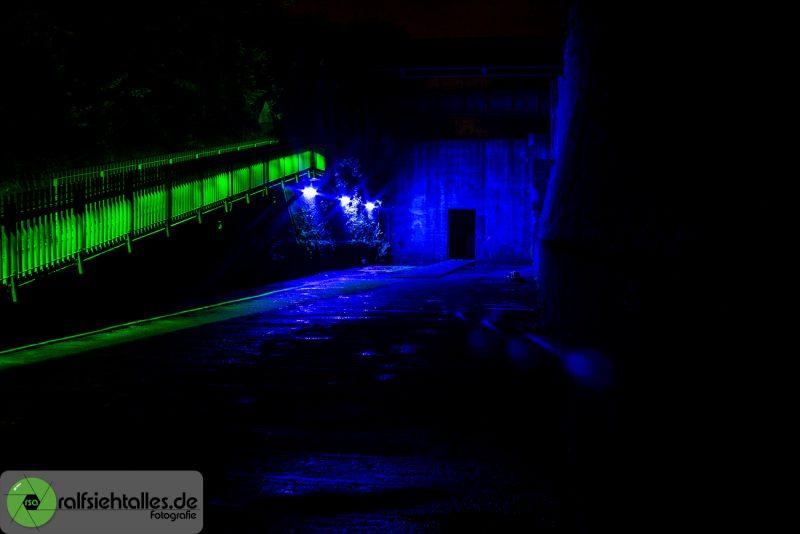 blauer Gang - Extraschicht am LaPaDu