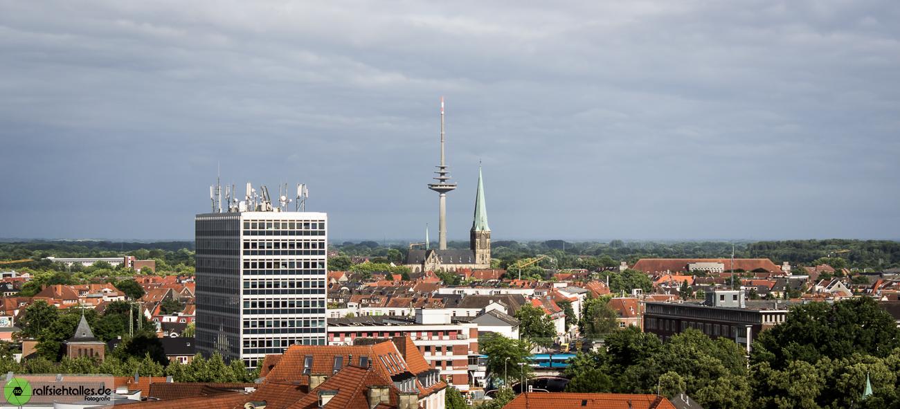 Panorama von Münster mit dem Funkturm