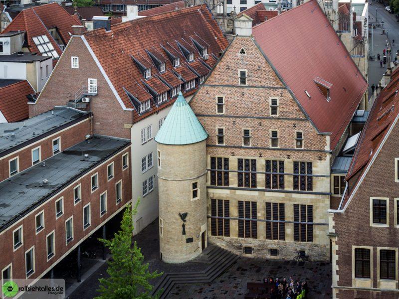 Rathaus des westfälischen Friedens von hinten