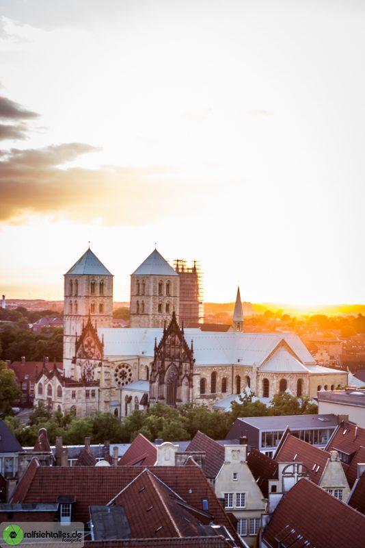 Sonnenuntergang über Münster