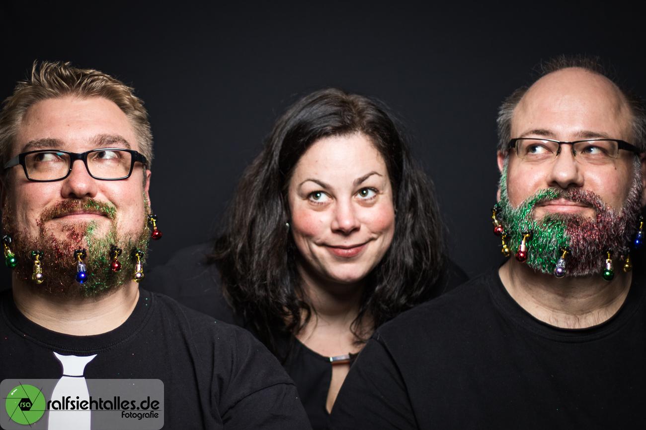 Simone, Tim und Ralf beim etwas anderen Weihnachtsshooting