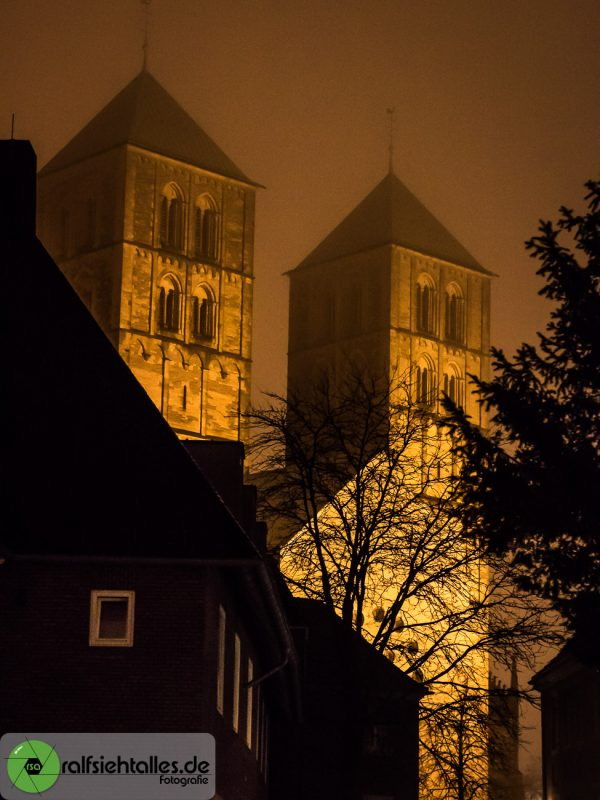 beleuchteter Dom zu Münster