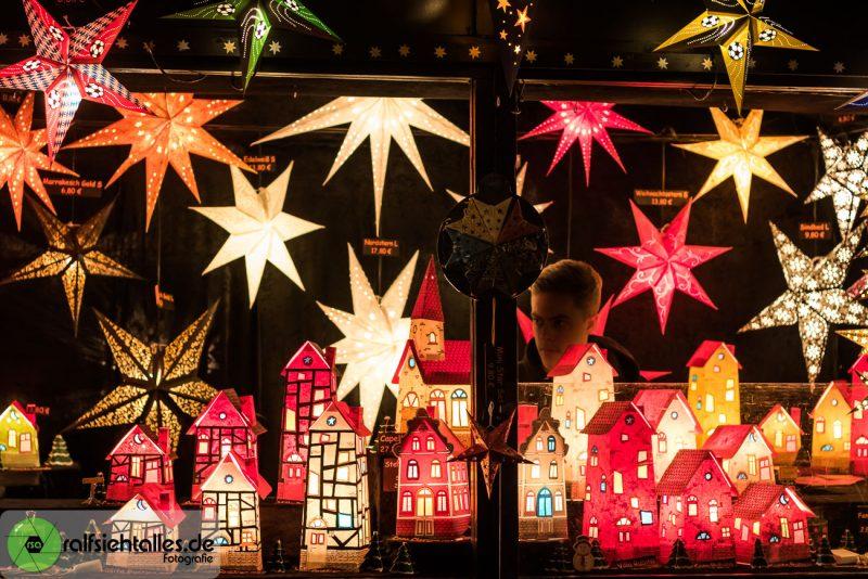 Lichtobjekte auf dem Weihnachtsmarkt in Münster
