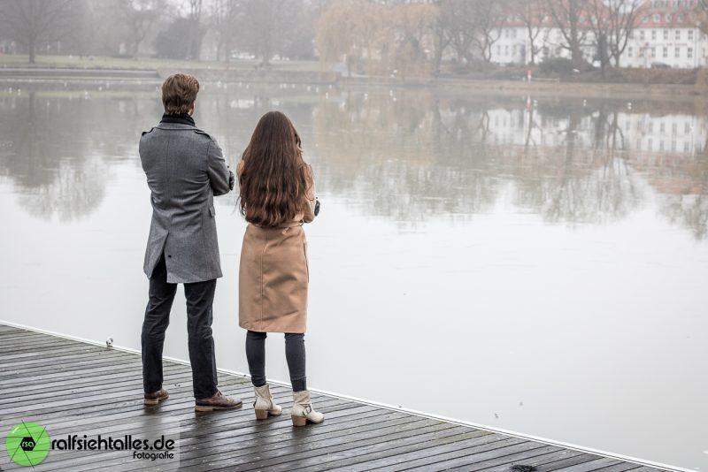Ekaterina und Max am Bootssteg