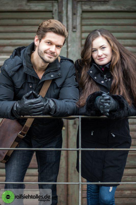 Ekaterina und Max am Hafen in Münster