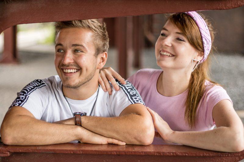 Melissa und Falko in trauter Zweisamkeit
